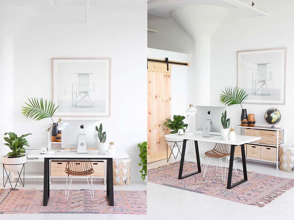Ý tưởng thiết kế văn phòng làm việc tại nhà phong cách đơn giản