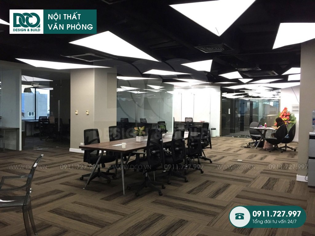 Dự án thiết kế nội thất văn phòng làm việc chung cao cấp