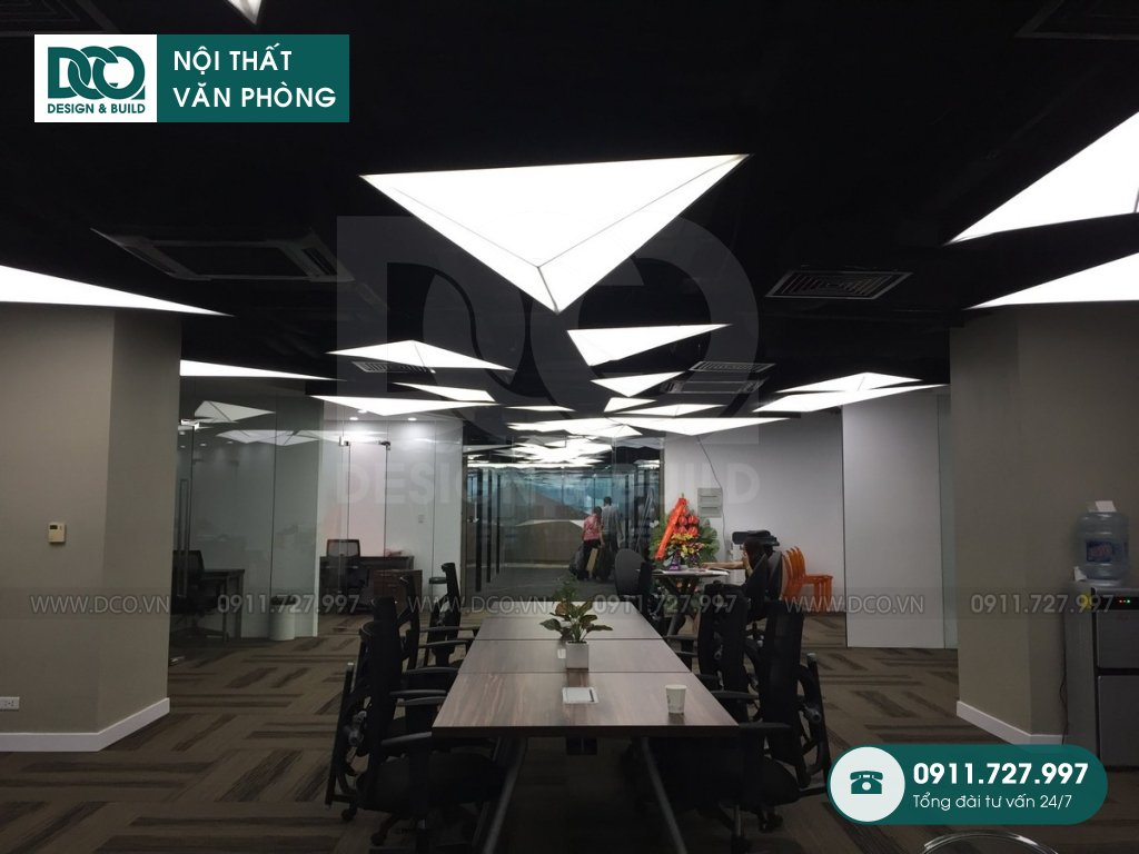 Dự án thiết kế nội thất văn phòng làm việc chung giá rẻ