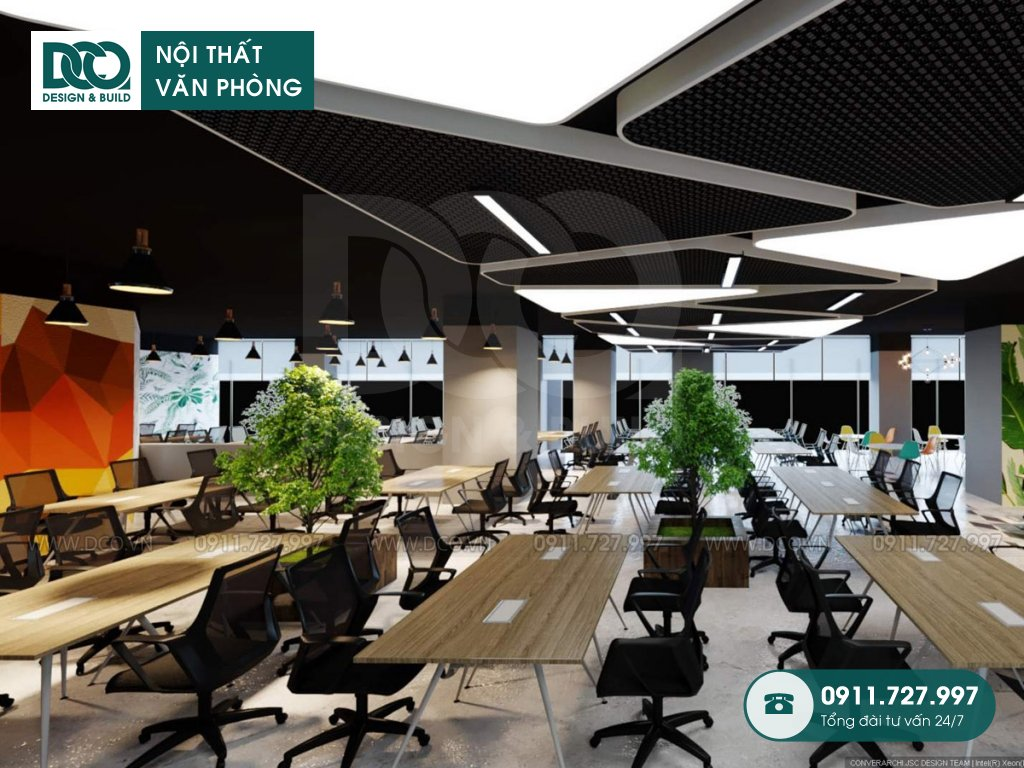 Mẫu nội thất văn phòng 1500m2 số 1 Lương Yên