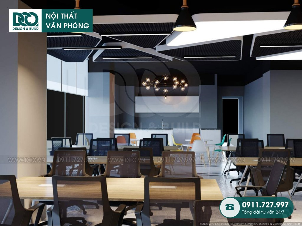 Bản vẽ mẫu nội thất văn phòng làm việc chung số 1 Lương Yên