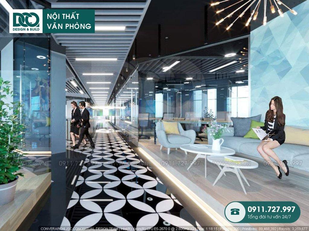 Hồ sơ dự án thiết kế nội thất văn phòng làm việc chung số 1 Lương Yên
