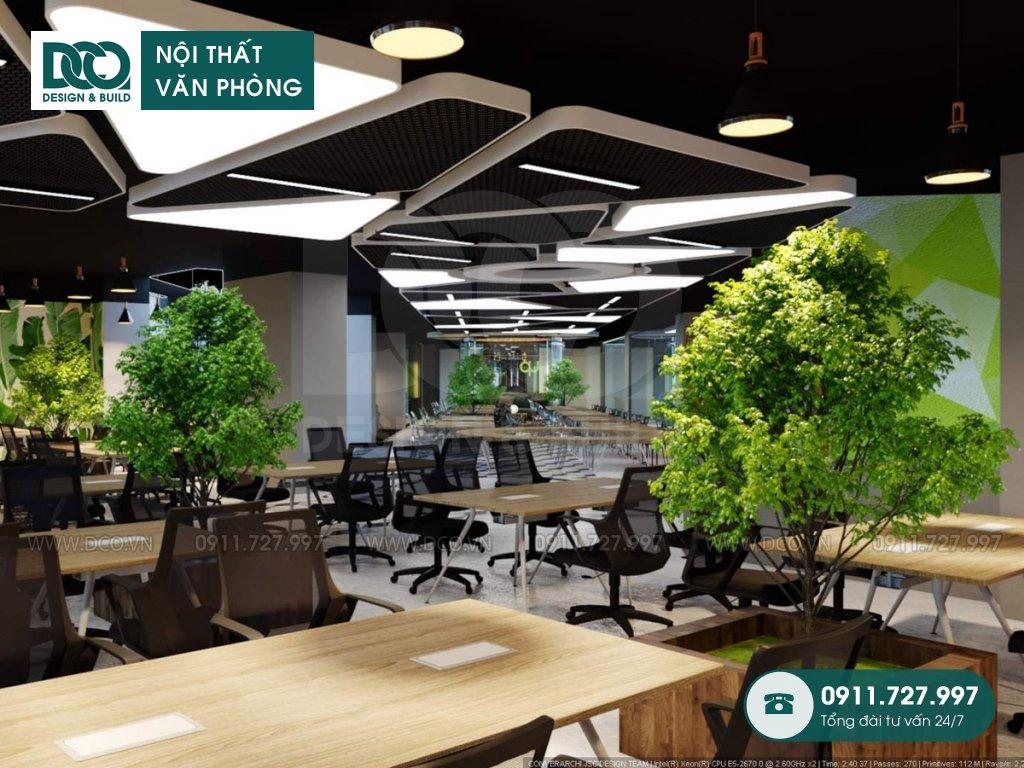 Bản vẽ mẫu nội thất văn phòng tòa nhà Kim Khí Thăng Long