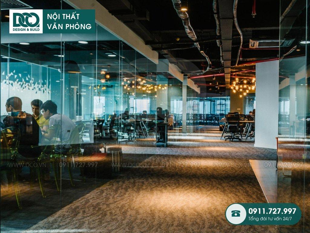 Bản vẽ mẫu nội thất văn phòng tòa nhà số 1 Lương Yên