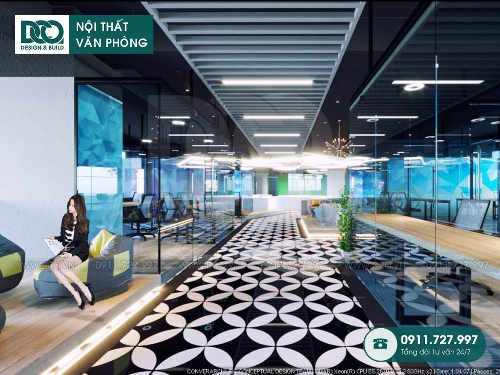 Mẫu nội thất văn phòng số 1 Lương Yên