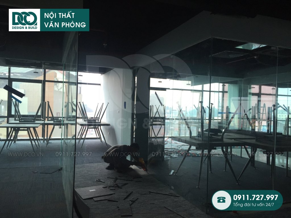 Thi công nội thất văn phòng tại Kim Mã