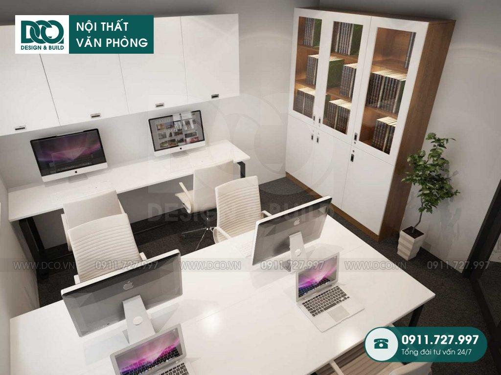 Bản vẽ mẫu nội thất văn phòng 140m2 81A Trần Quốc Toản