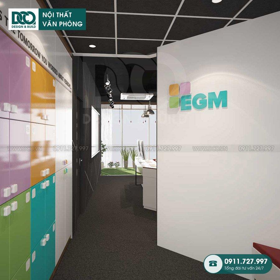 Mẫu nội thất văn phòng EGM Media 81A Trần Quốc Toản