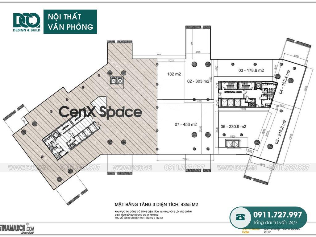 Dự án thiết kế văn phòng CEN X SPACE 2