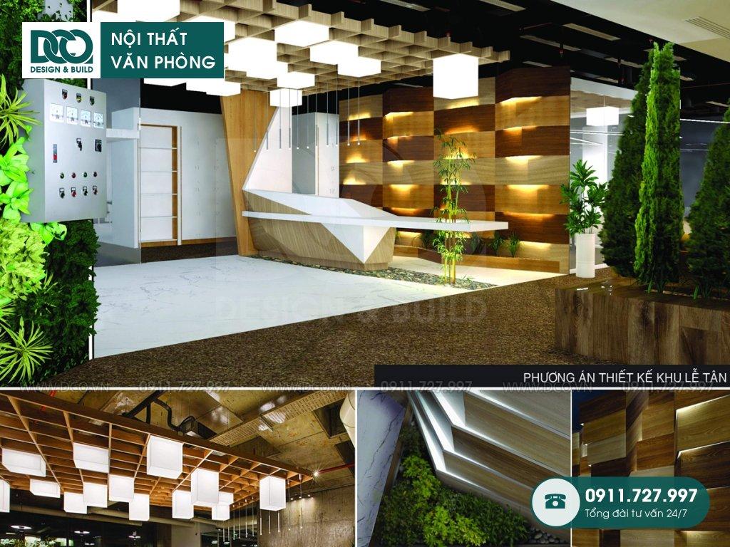 Dự án thiết kế nội thất văn phòng giá rẻ