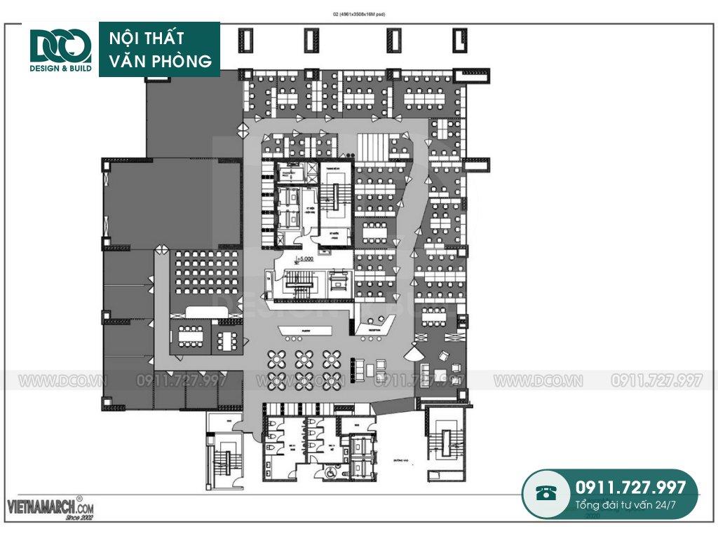 Hồ sơ dự án thiết kế nội thất văn phòng công ty Hoàn Mỹ