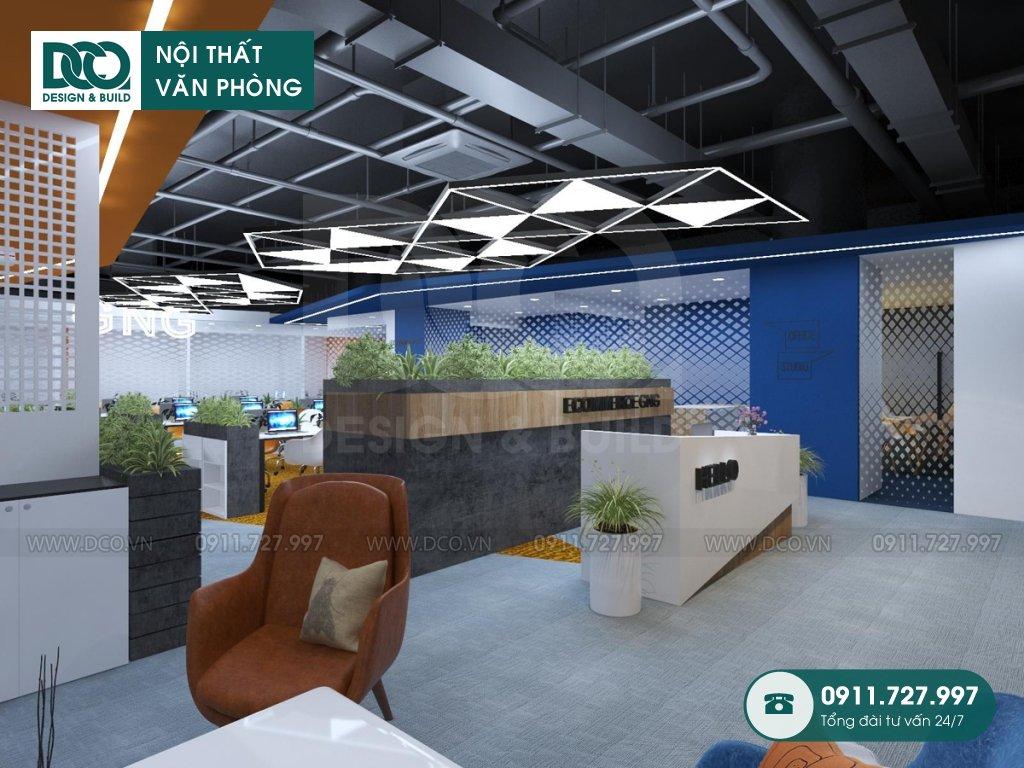 Dự án thiết kế nội thất văn phòng Coworking cao cấp