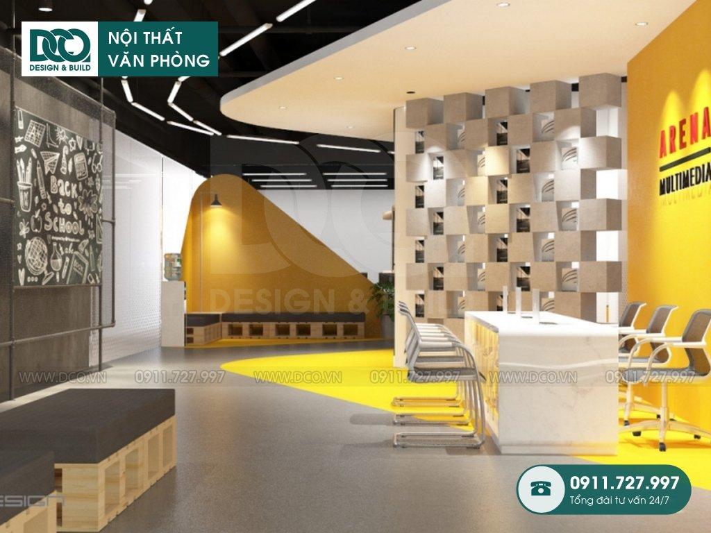 Hồ sơ bản vẽ mẫu nội thất văn phòng 100 chỗ Arena Multimedia