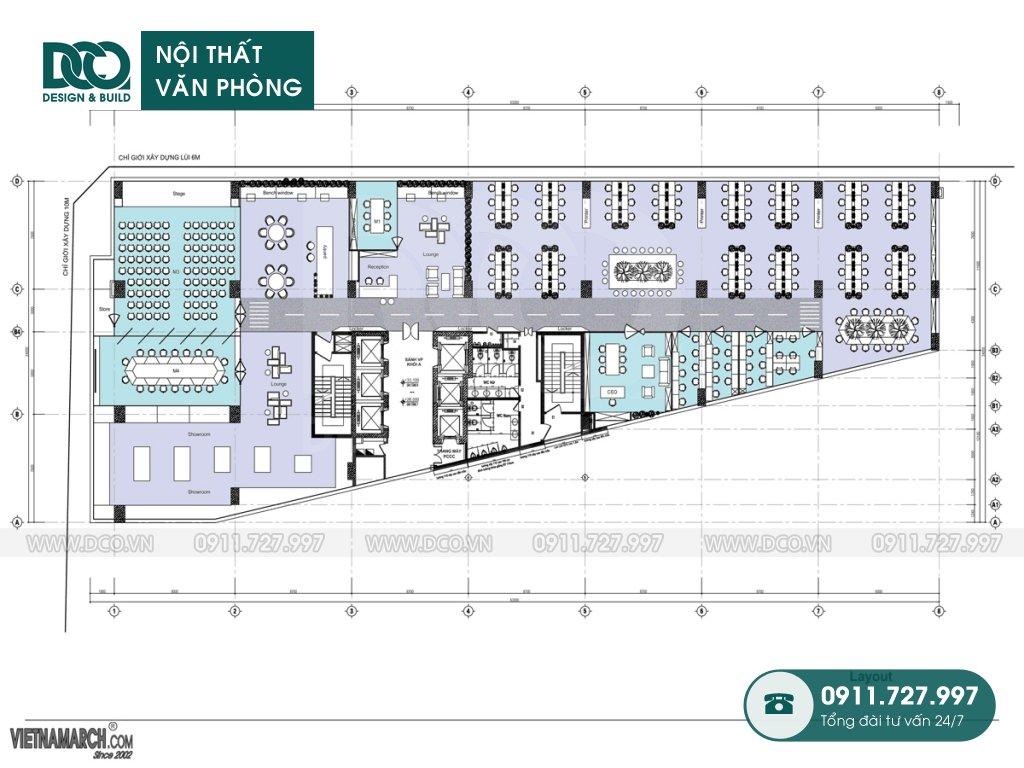 Hồ sơ dự án thiết kế nội thất văn phòng 36 Phạm Văn Đồng