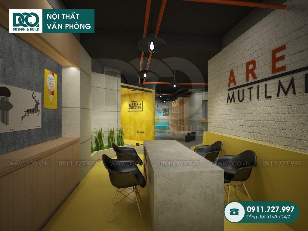 Mẫu nội thất văn phòng 400m2 Arena Multimedia