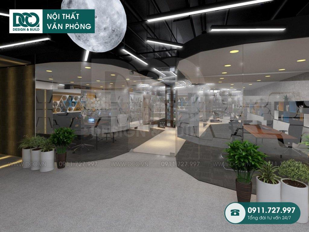 Hồ sơ mẫu nội thất văn phòng 48 chỗ GOLDEN NET dự án 2