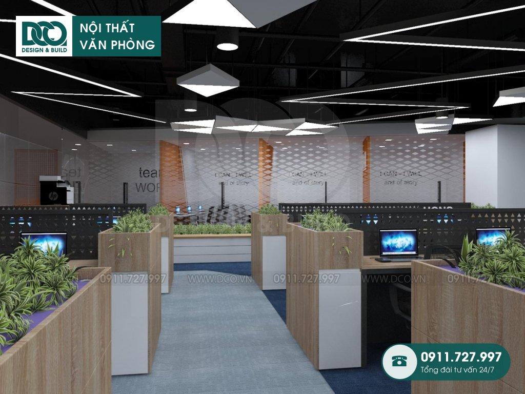 Hồ sơ bản vẽ mẫu nội thất văn phòng 68 chỗ khu 1 GNG Media