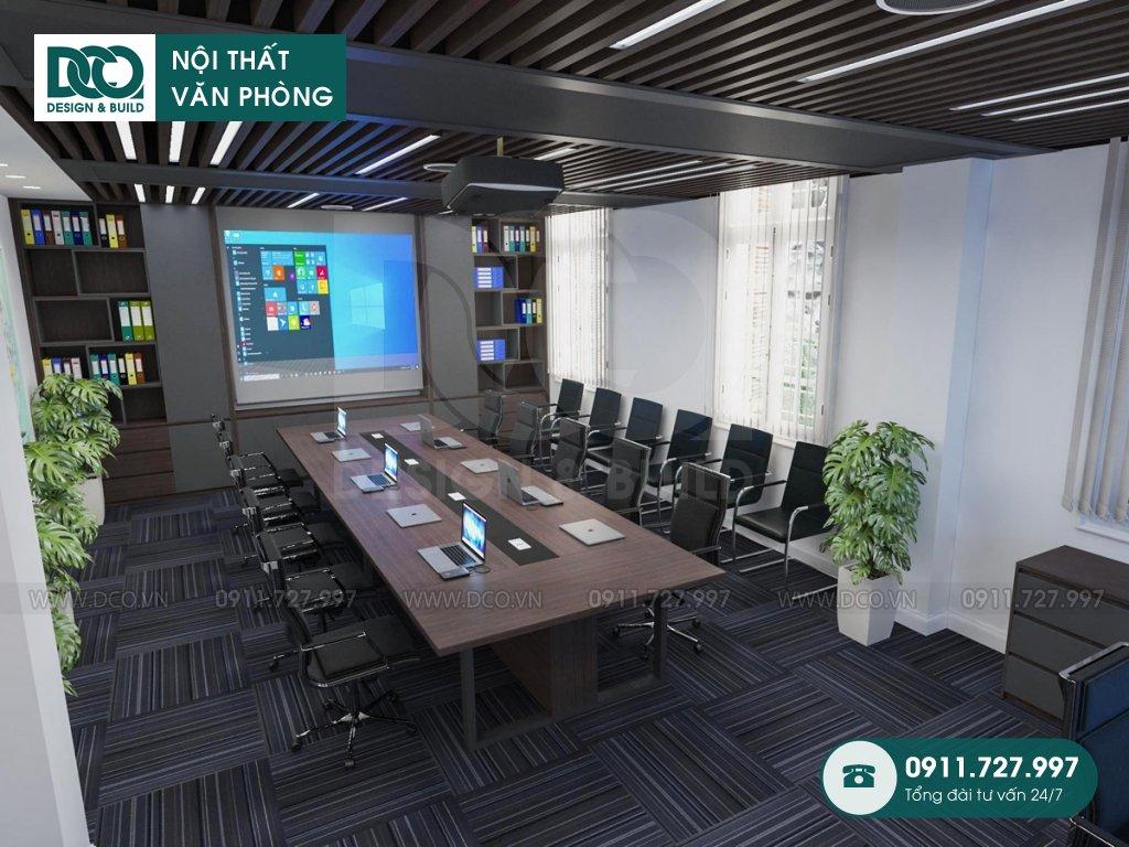 Bản vẽ mẫu nội thất văn phòng 50m2 Đại sứ quán Singapore