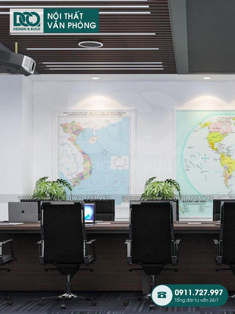 Mẫu nội thất văn phòng 10 chỗ Đại sứ quán Singapore