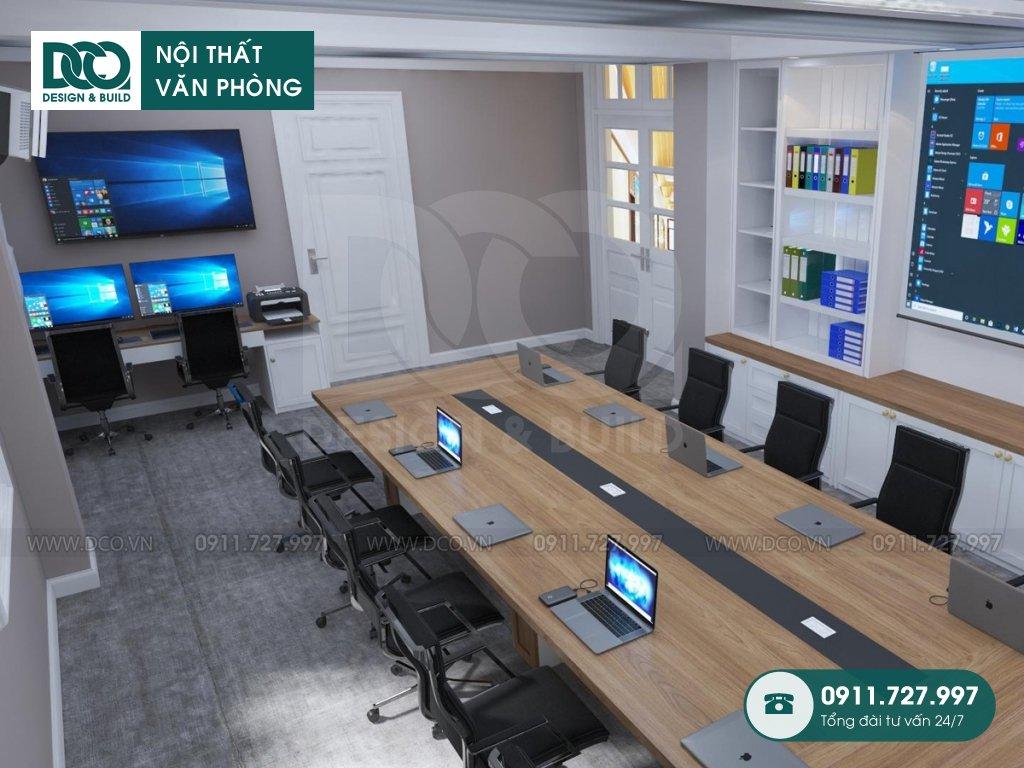 Hồ sơ dự án thiết kế nội thất văn phòng 50m2 Đại sứ quán Singapore