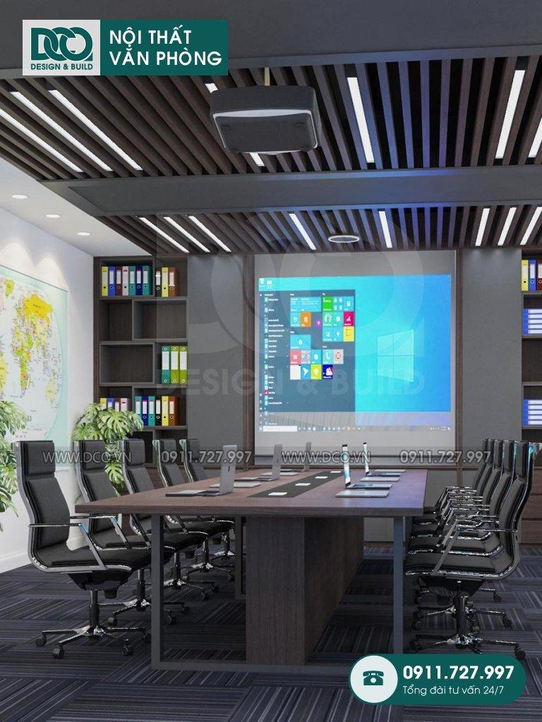 Mẫu nội thất văn phòng 50m2 Đại sứ quán Singapore