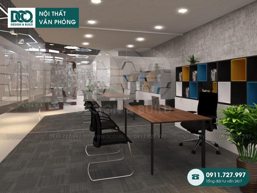 Mẫu nội thất văn phòng GOLDEN NET dự án 2