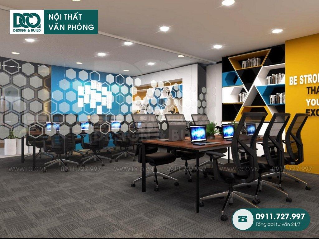 Hồ sơ mẫu nội thất văn phòng GOLDEN NET dự án 2