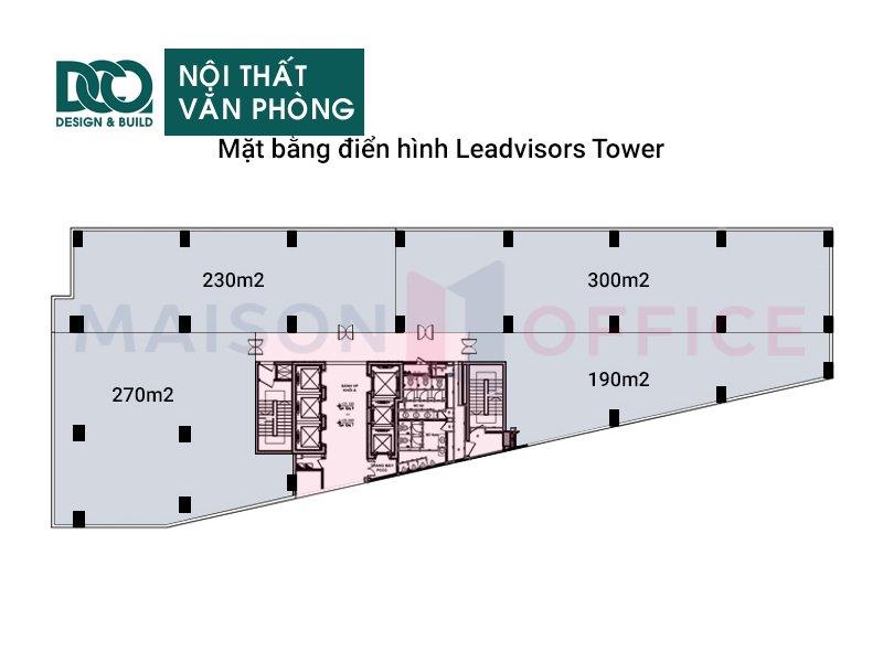 Bản vẽ mẫu nội thất văn phòng Leadvisors Tower