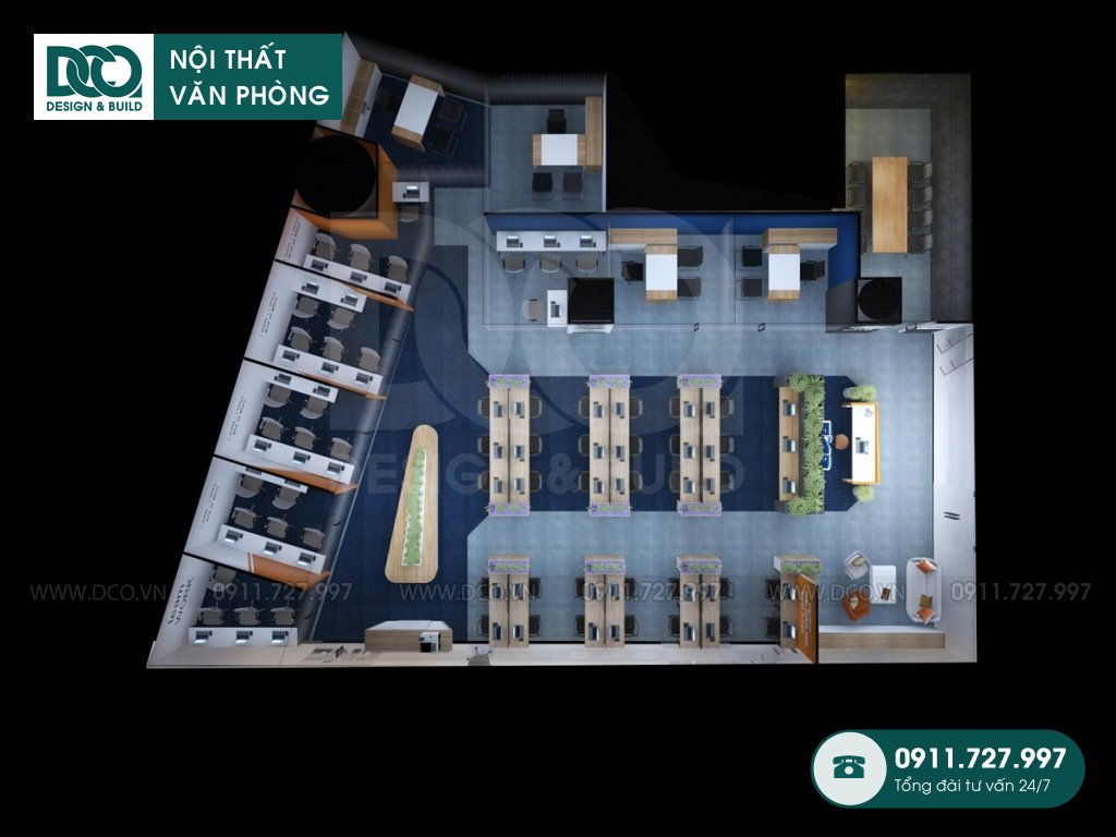 Bản vẽ mẫu nội thất văn phòng khu 1 GNG Media