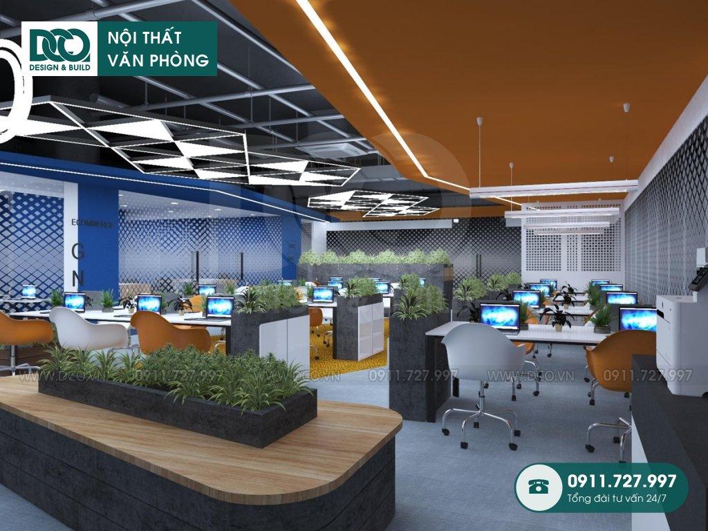 Hồ sơ dự án thiết kế nội thất văn phòng khu 1 GNG Media