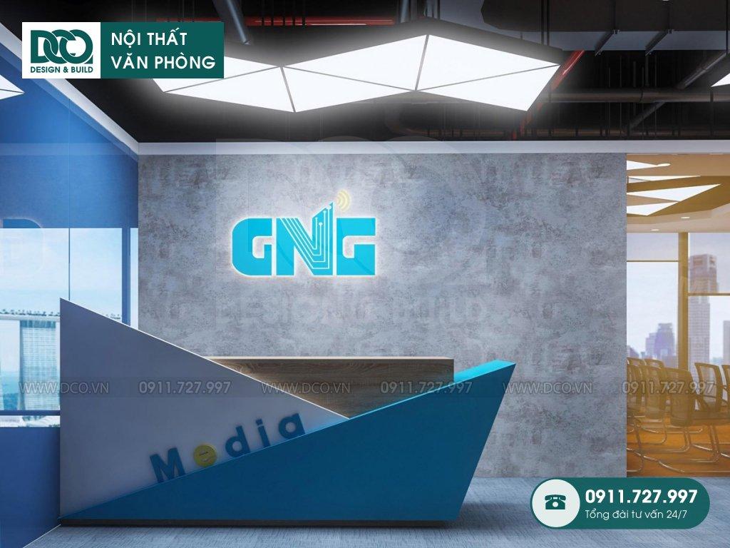 Bản vẽ mẫu nội thất văn phòng khu 2 GNG Media