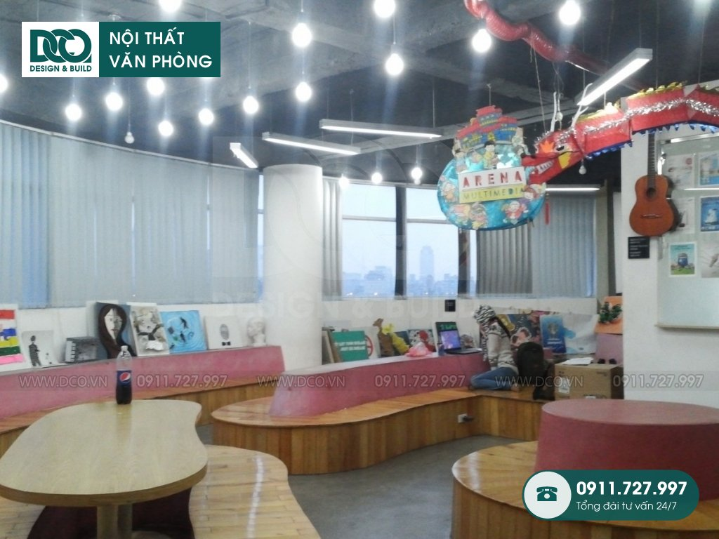 Thi công nội thất Coworking Space Arena Multimedia