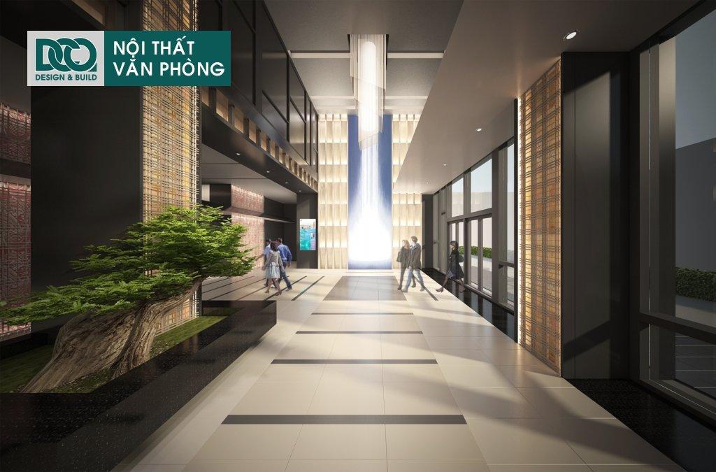 Thiết kế nội thất văn phòng 130 chỗ Leadvisors Tower