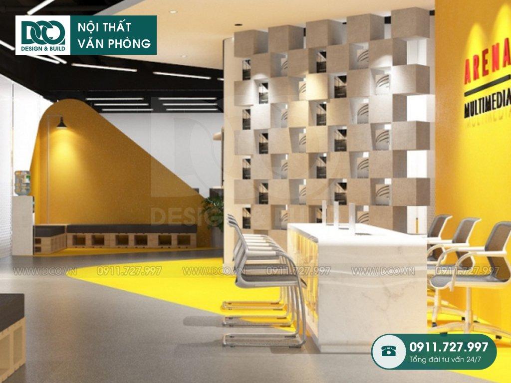 Thi công nội thất văn phòng 400m2 Arena Multimedia