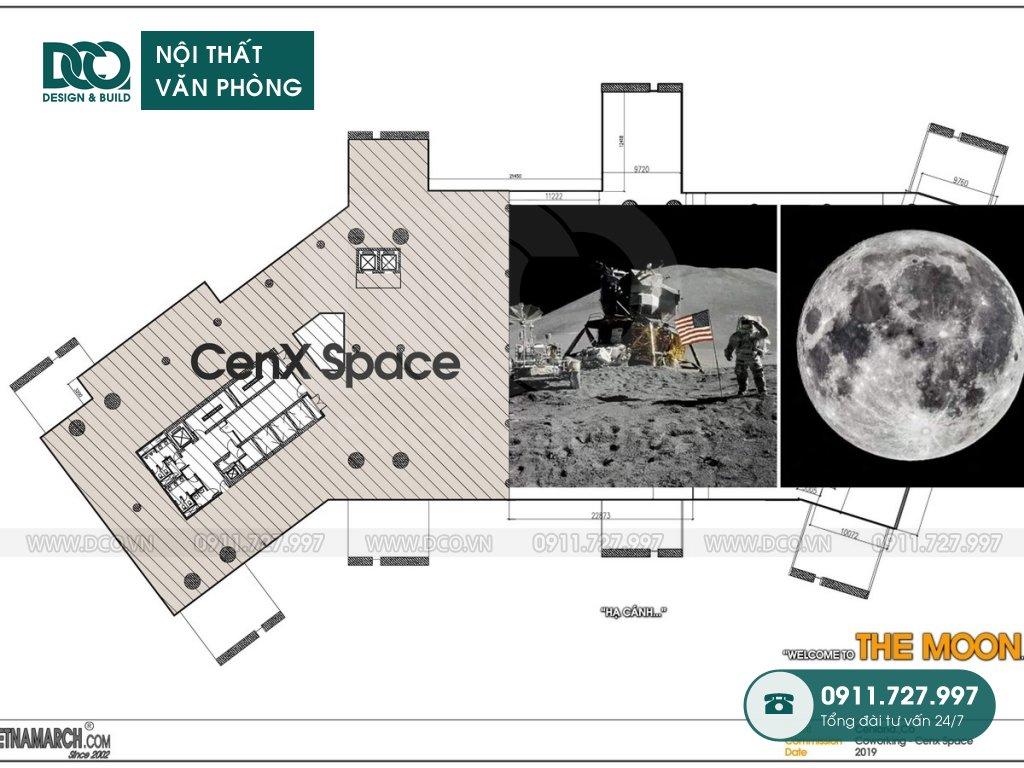 Thiết kế &Thi công nội thất văn phòng CEN X SPACE 2