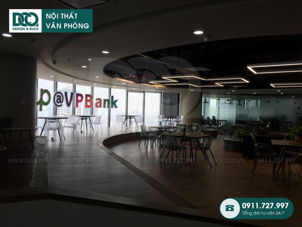 Thi công nội thất văn phòng VP Bank tầng 21