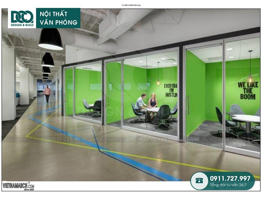 Thiết kế &Thi công nội thất văn phòng công ty Hoàn Mỹ