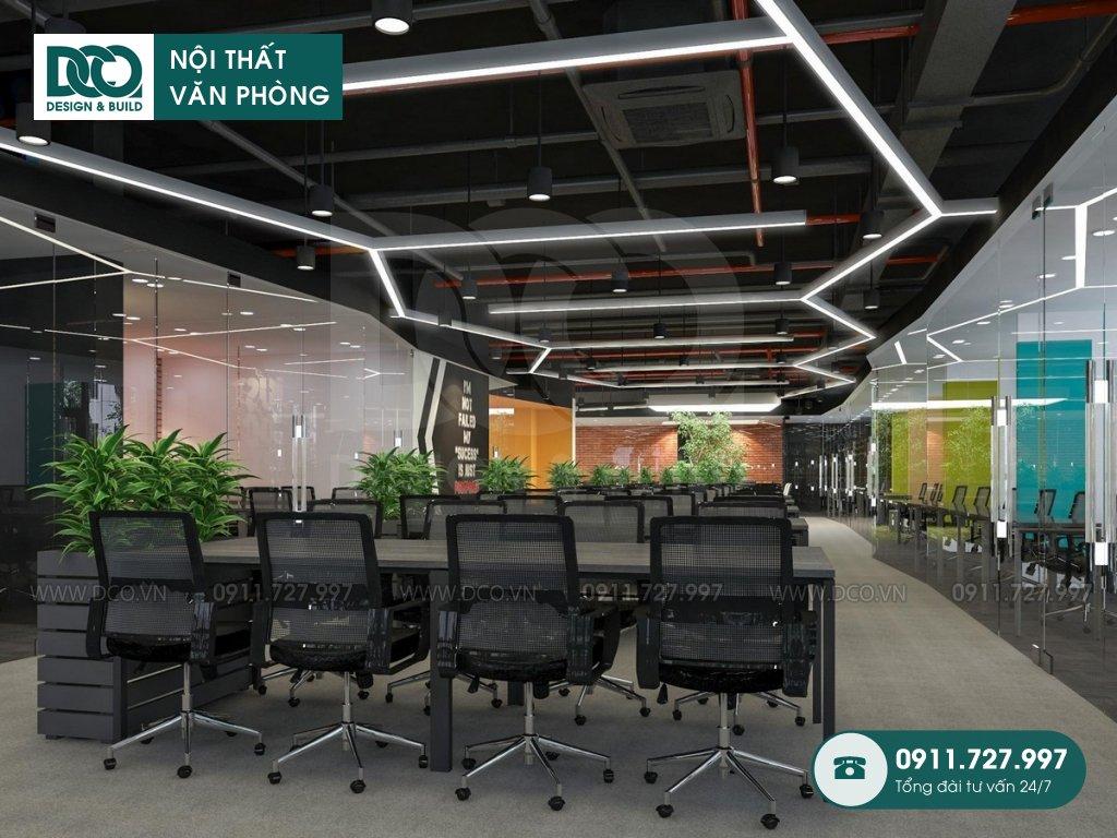 Hồ sơ dự án thiết kế nội thất văn phòng 1873m2 Golden West