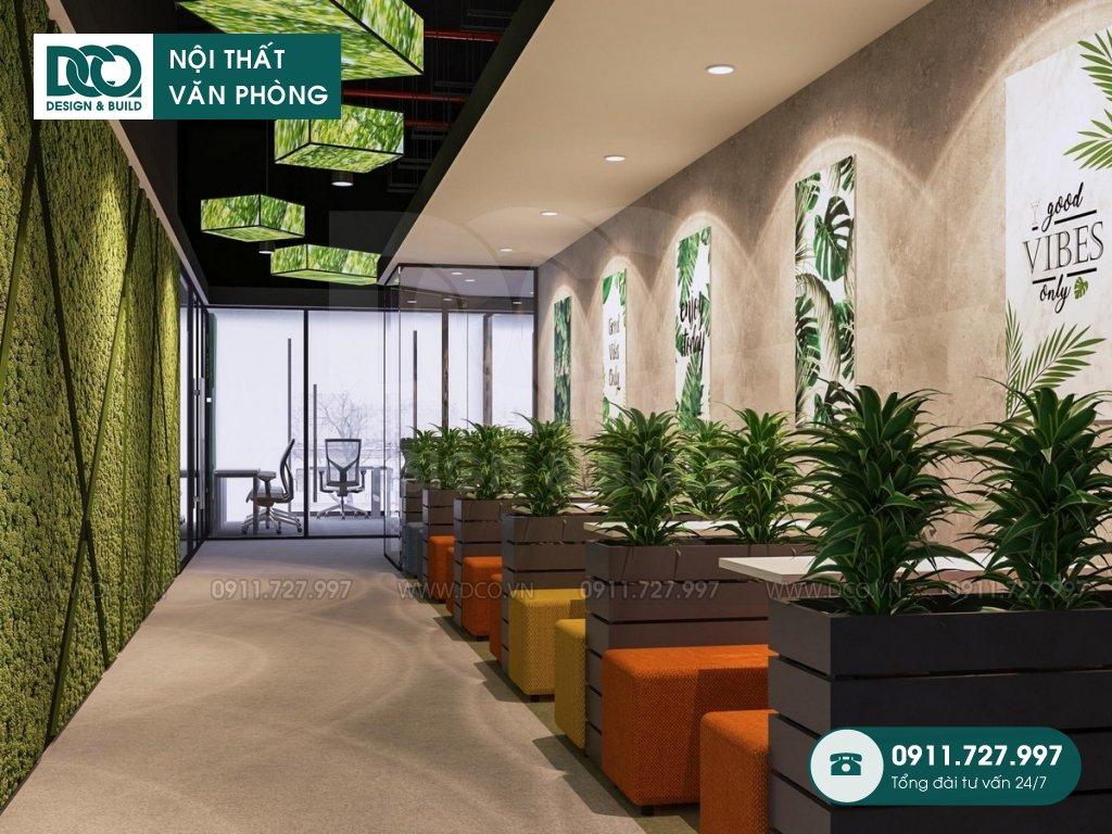 Mẫu nội thất văn phòng 250 chỗ Việt Đức Complex