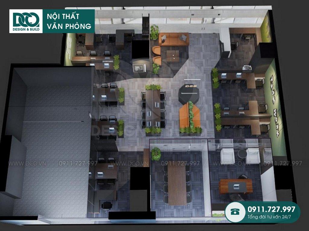 Bản vẽ mẫu nội thất văn phòng bất động sản Bigstar