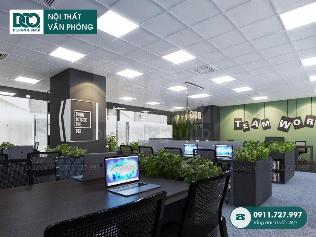 Mẫu nội thất văn phòng bất động sản Bigstar
