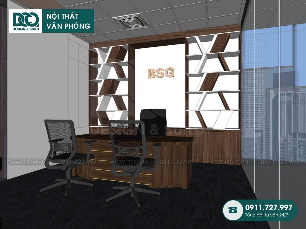 Hồ sơ dự án thiết kế nội thất văn phòng bất động sản Bigstar