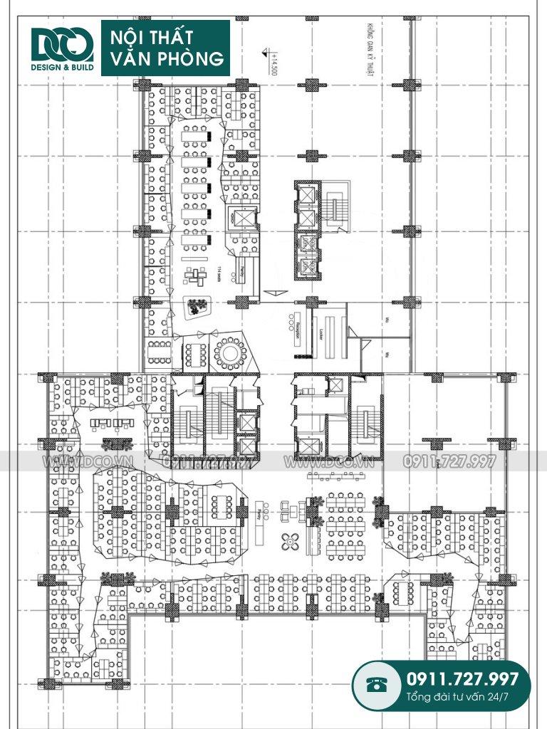 Bản vẽ mẫu nội thất văn phòng số 2 Lê Văn Thiêm