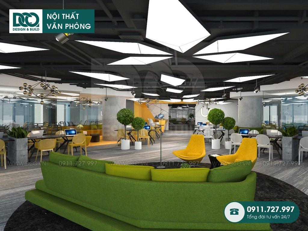 Bản vẽ mẫu nội thất văn phòng làm việc chung 89 Láng Hạ