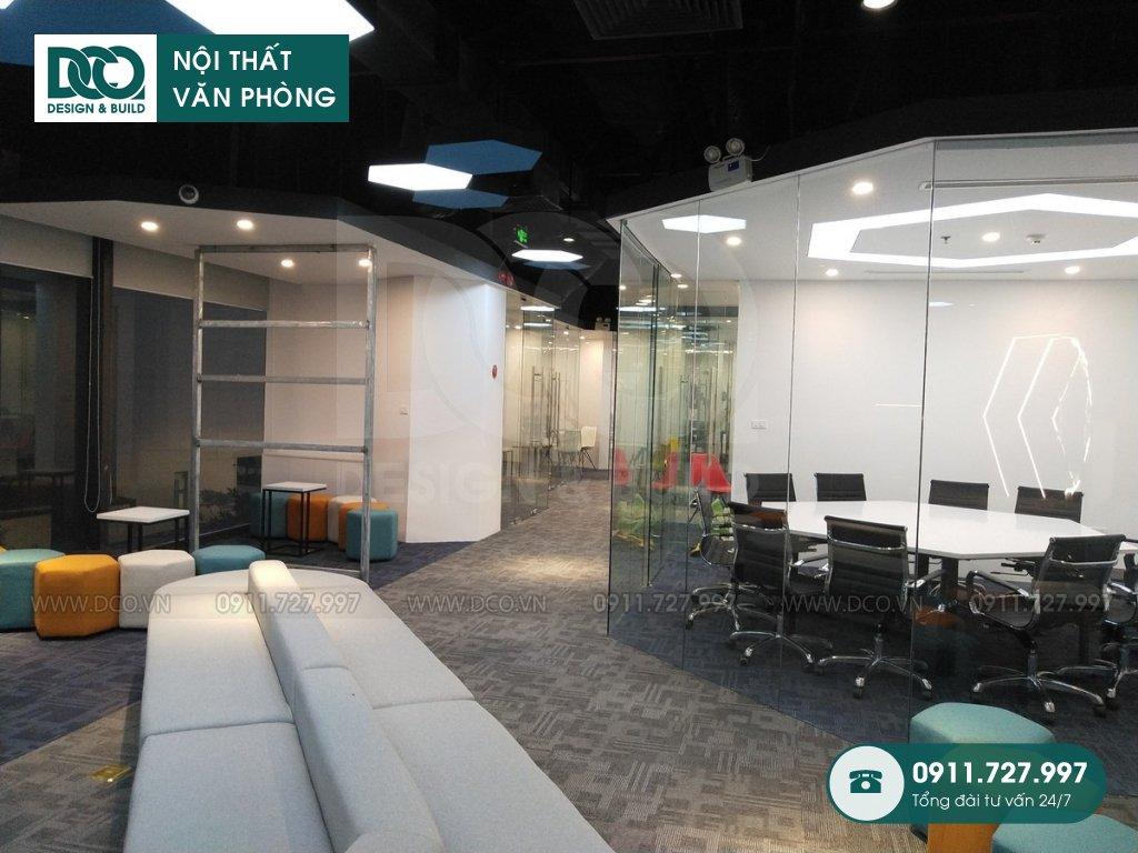 Thiết kế &Thi công nội thất văn phòng làm việc Golden Net