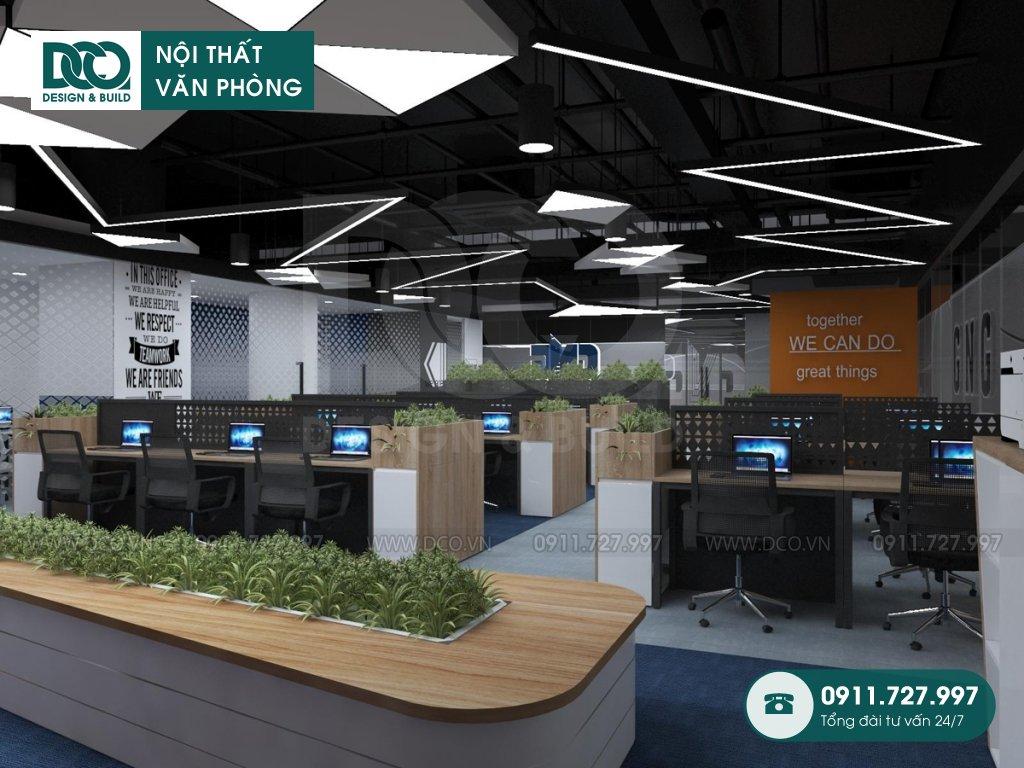 Mẫu thiết kế nội thất văn phòng gần gũi với thiên nhiên