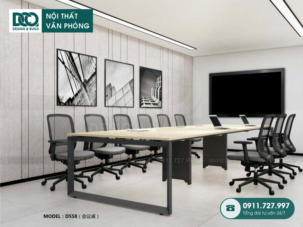 Báo giá bàn phòng meeting D558
