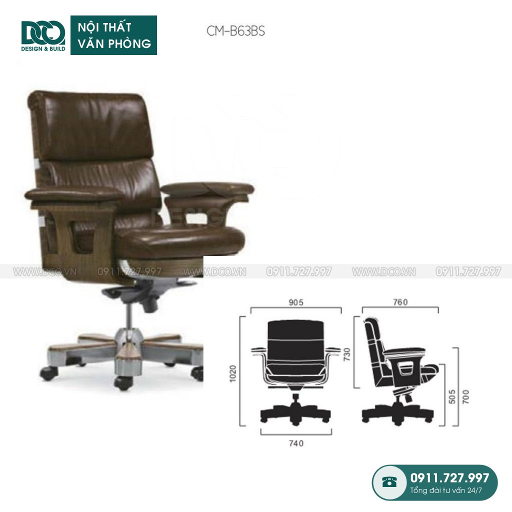 Ghế văn phòng B63 cao cấp