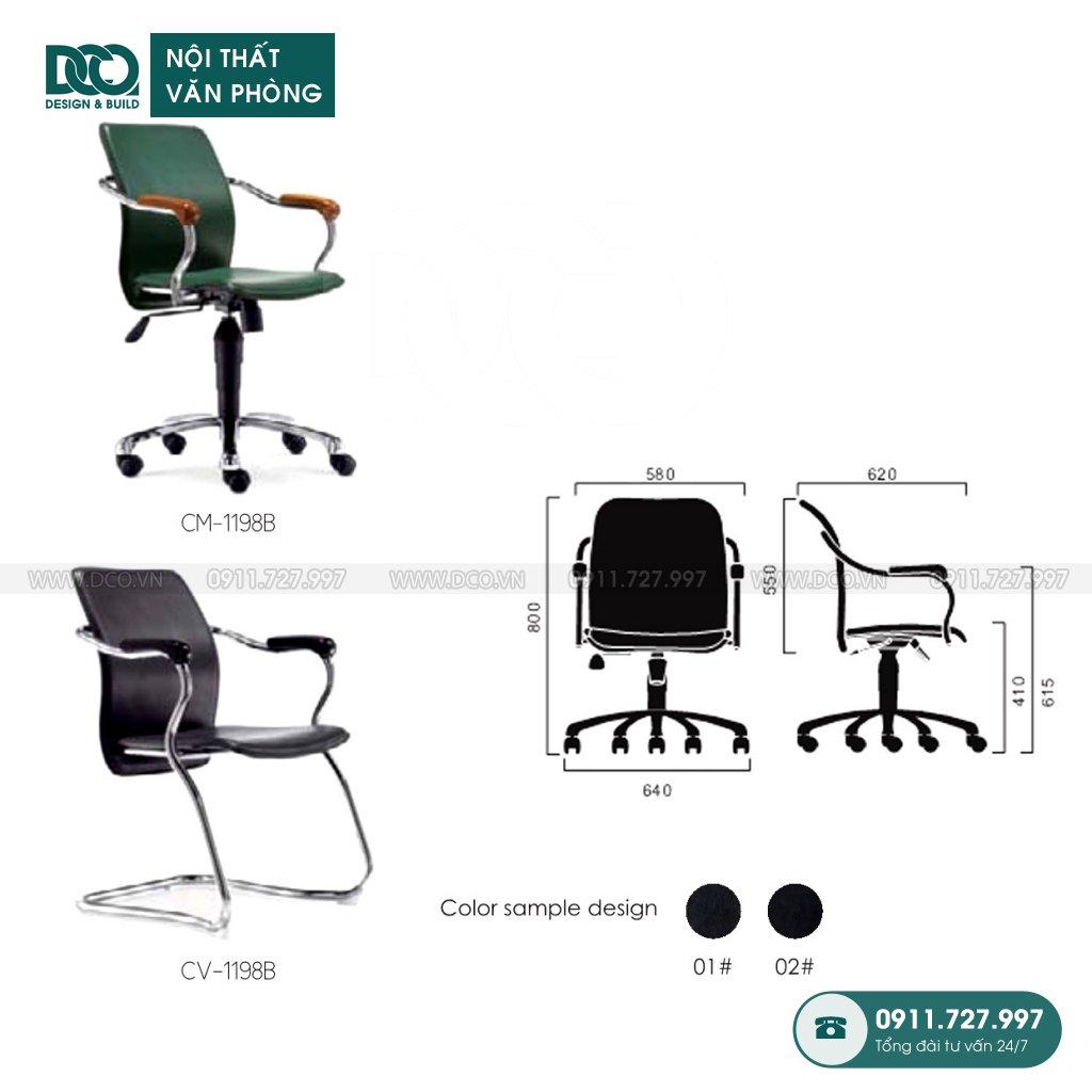 Ghế văn phòng 1198 giá rẻ