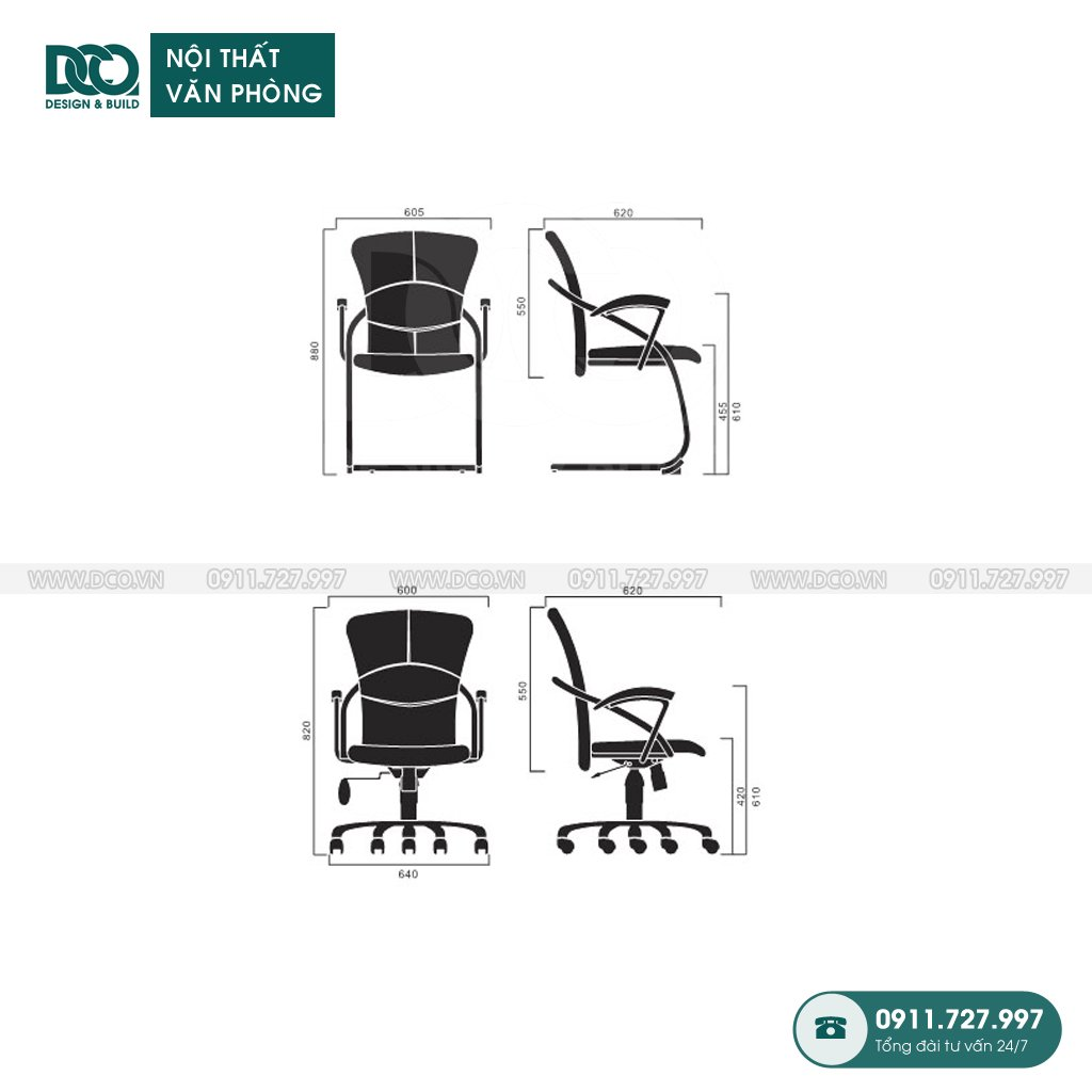 Showroom ghế văn phòng A008
